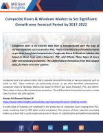 composite doors windows market to set significant