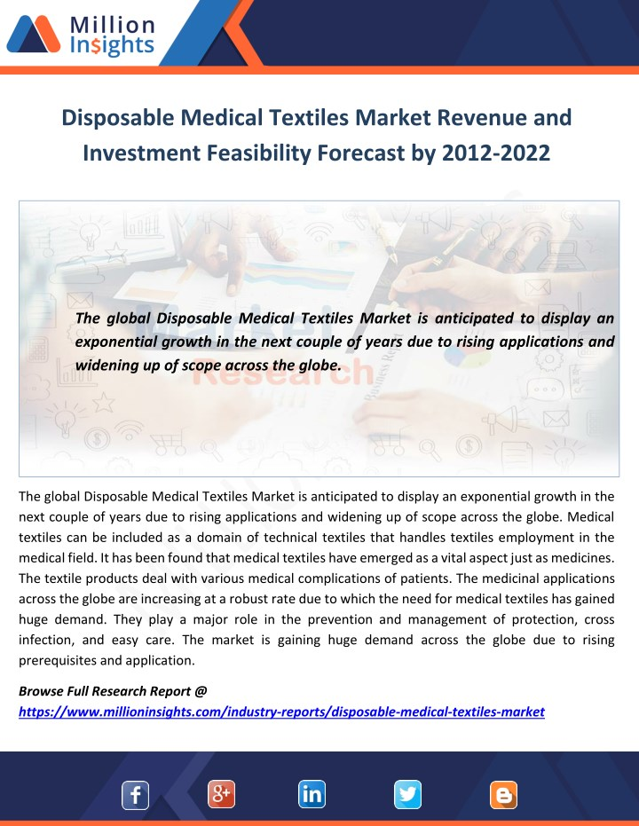 disposable medical textiles market revenue n.