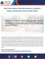 bath linen market top manufacturers growth