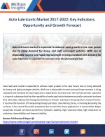 auto lubricants market 2017 2022 key indicators