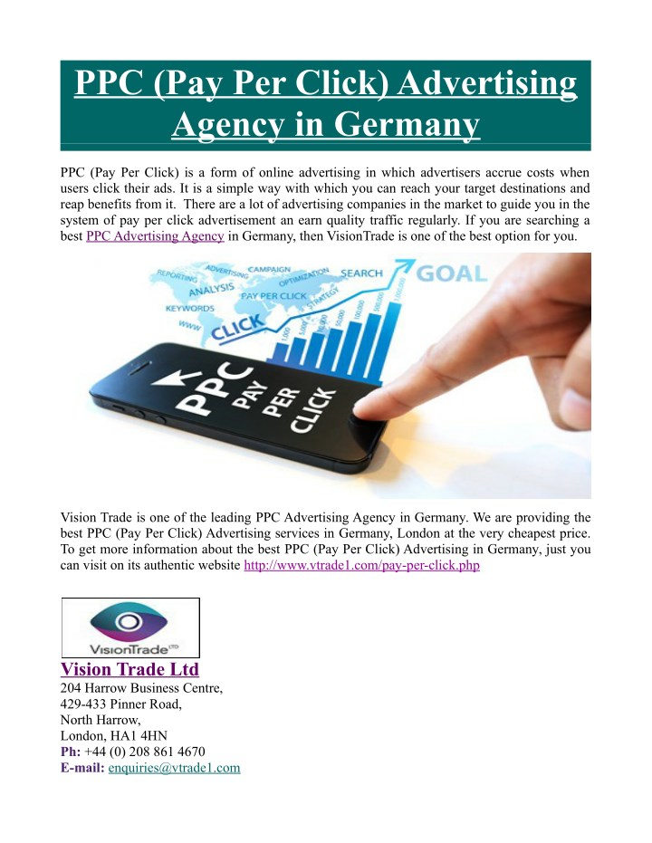 ppc pay per click advertising agency in germany n.