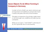 seven objects to do when forming a company 4