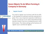 seven objects to do when forming a company 5