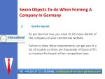 seven objects to do when forming a company 6