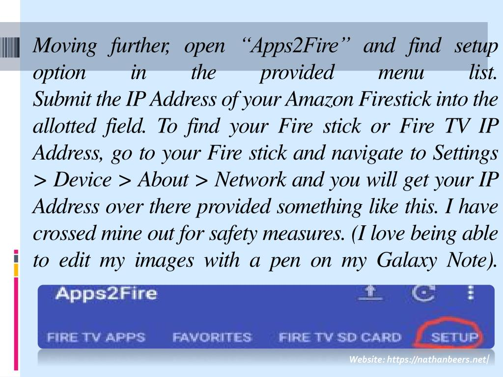 Apps2fire Firestick