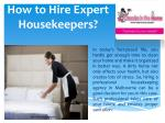 how to hire expert housekeepers