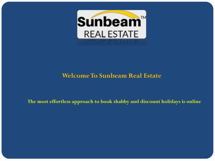 welcome to sunbeam real estate n.