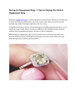 buying an engagement ring 3 tips for buying