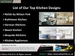 list of our top kitchen designs