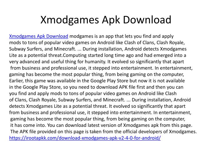 x modgames a pk download n.