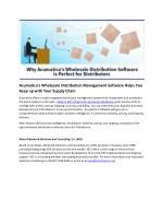 acumatica s wholesale distribution management