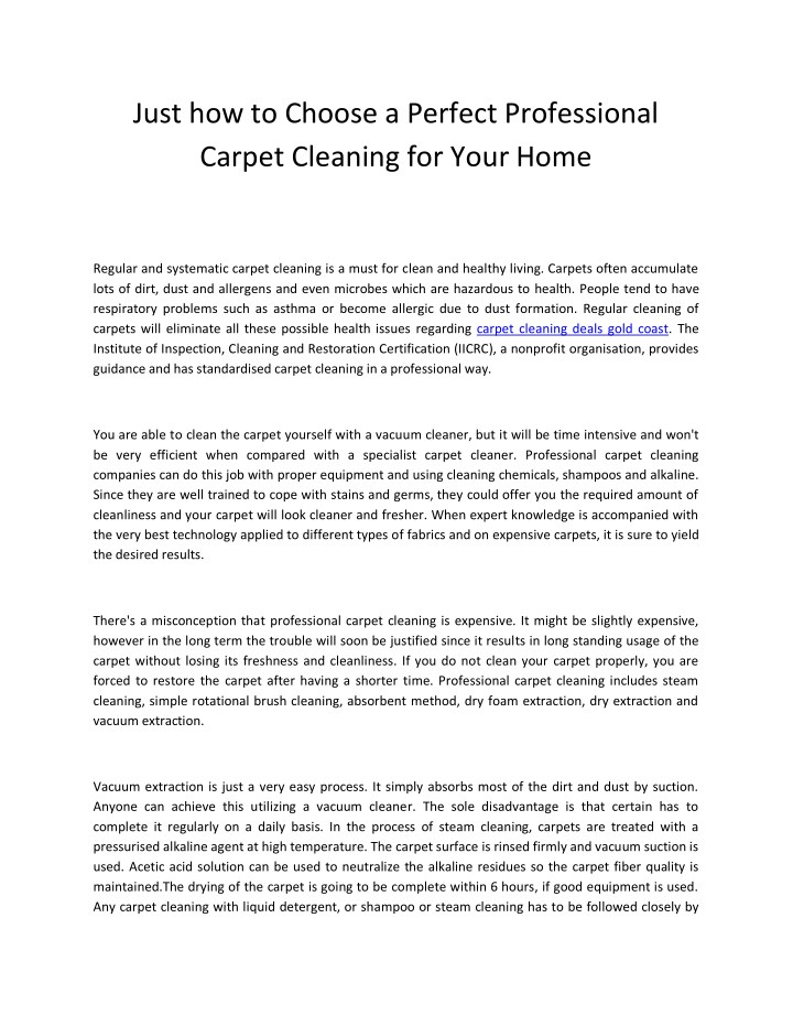 just how to choose a perfect professional carpet n.
