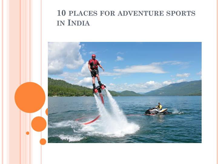 10 places for adventure sports in india n.