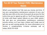 for all of your raleigh hvac maintenance needs