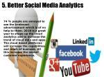 5 better social media analytics