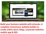 build your business website with ecanuks