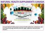 natural health supplements canada