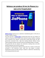 reliance can produce 10 mn jio phones in a year