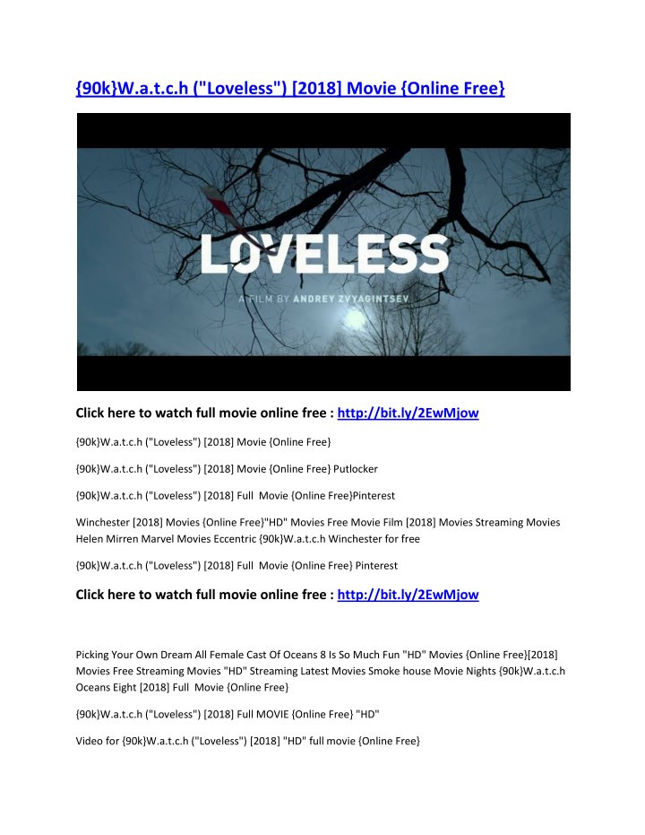 90k w a t c h loveless 2018 movie online free n.