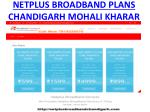 netplus broadband plans chandigarh mohali kharar