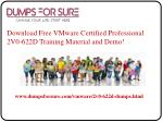download free vmware certified professional 2v0 622d training material and demo