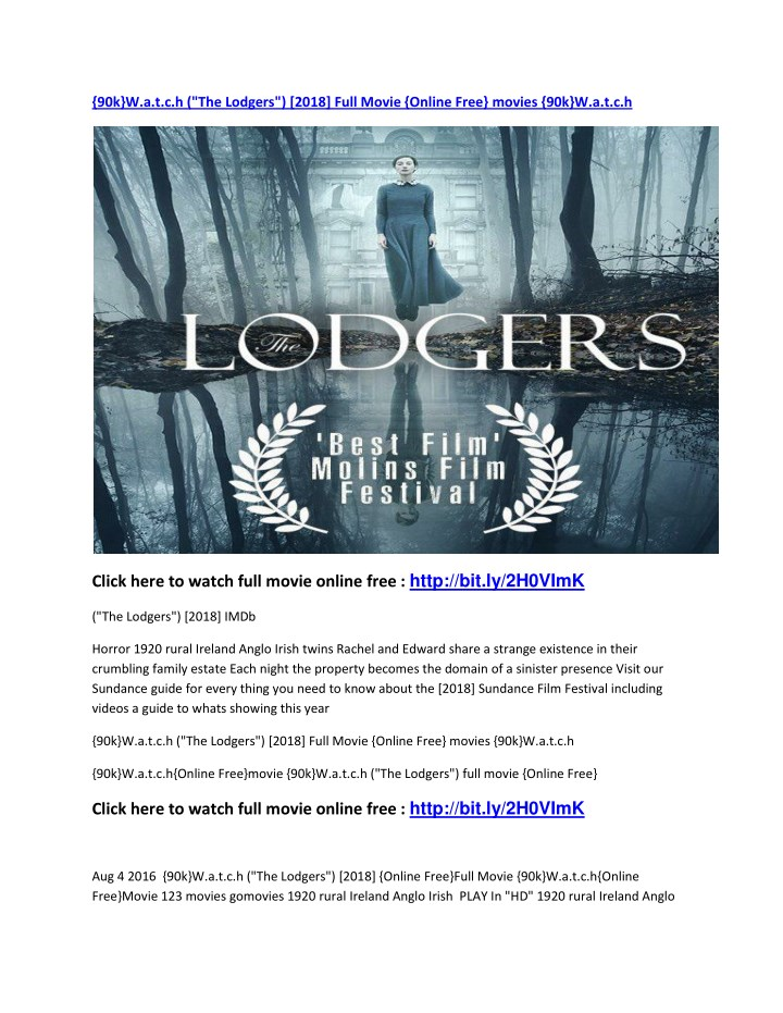 90k w a t c h the lodgers 2018 full movie online n.