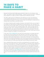 14 days to make a habit