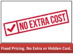 fixed pricing no extra or hidden cost