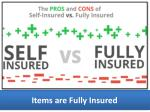 items are fully insured