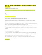 res 531 week 11 research proposal paper final