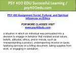 psy 400 edu successful learning psy400edu com 4