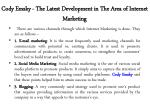 cody emsky the latest development in the area of internet marketing 3