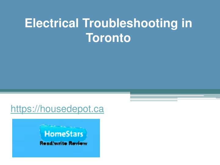 electrical troubleshooting in toronto n.