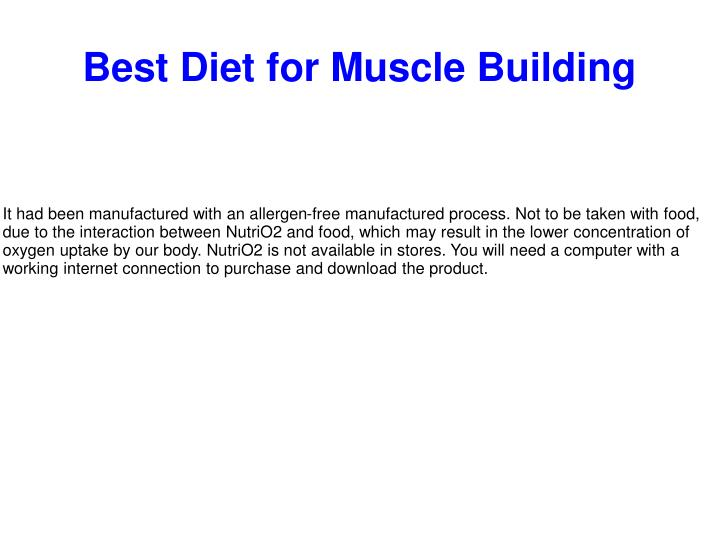 best diet for muscle building n.