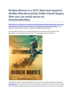 broken horses is a 2015 american mystery thriller