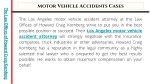 motor vehicle accidents cases