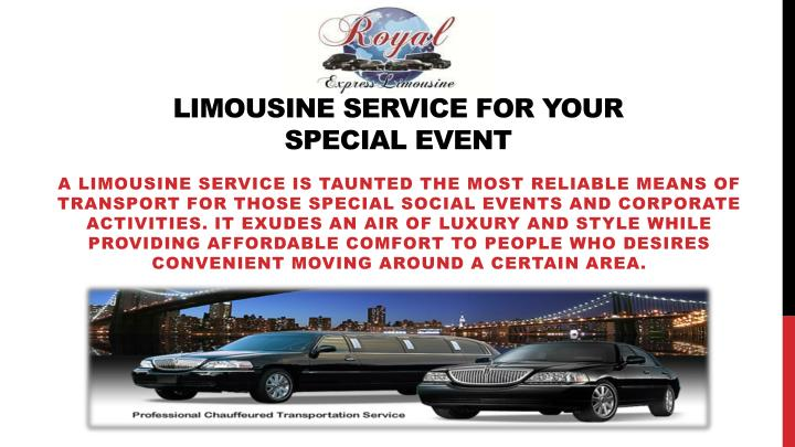 limousine service for your special event n.