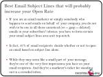 best email subject lines that will probably increase your open rate