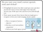 do you want your email content opened read and clicked