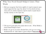 why you need email subject lines that work