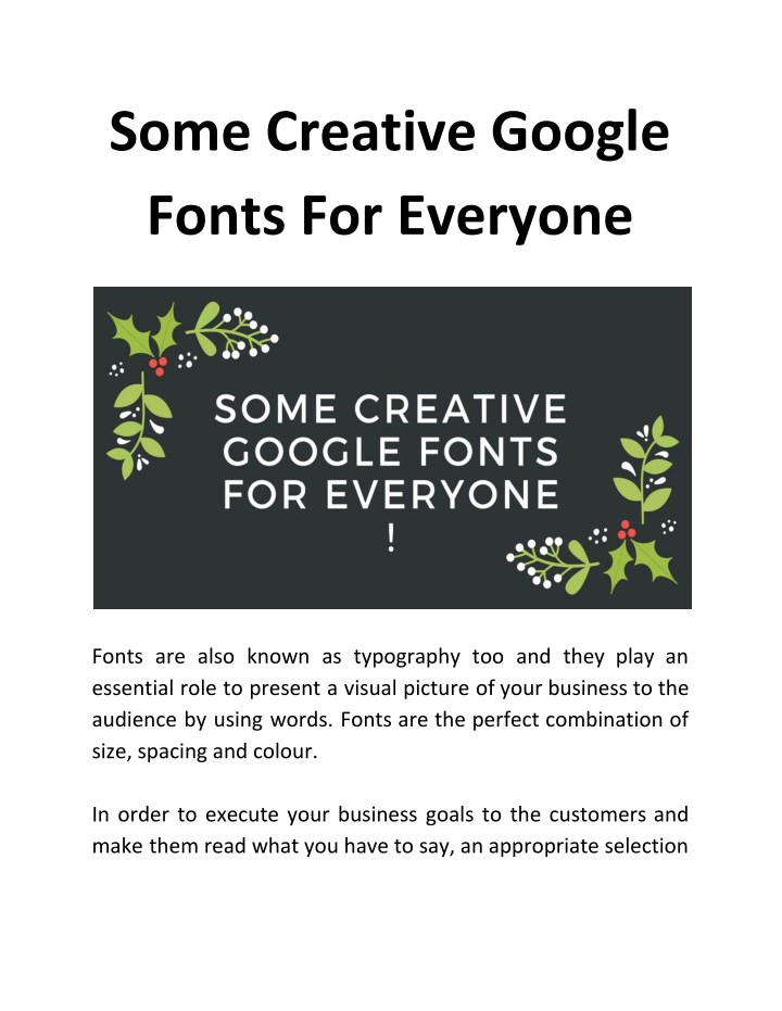 some creative google fonts for everyone n.