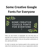 some creative google fonts for everyone