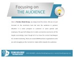 focusing on the audience