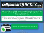 sell your old car quickly for cash and making