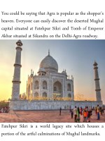 you could be saying that agra is popular