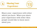 sharing your experience