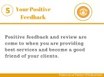 your positive feedback