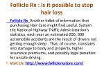 follicle rx is it possible to stop hair loss
