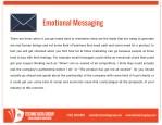 emotional messaging