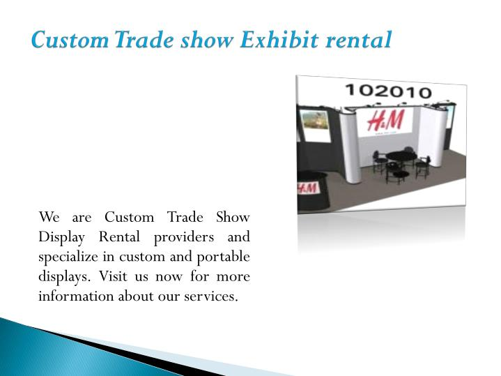 custom trade show exhibit rental n.